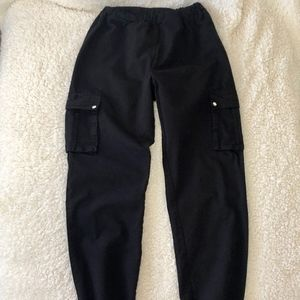 Pretty Little Thing Black Pocket Detail Cargo Pant